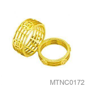 Nhẫn Cưới Vàng Vàng 18k Đính Đá CZ - MTNC0172