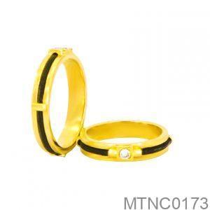 Nhẫn Cưới Vàng Vàng 18k Đính Đá CZ - MTNC0173