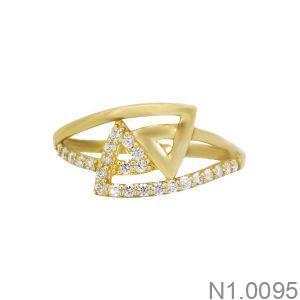 Nhẫn Nữ Vàng 18K Đính Đá CZ - N1.0095