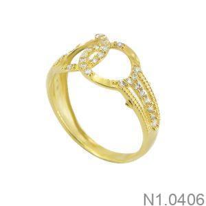 Nhẫn Nữ Vàng 18K Đính Đá CZ - N1.0406