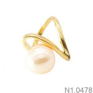 Nhẫn Nữ Ngọc Trai Vàng 18k - N1.0478