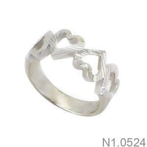 Nhẫn Kiểu Nữ APJ Vàng Trắng 10k - N1.0524