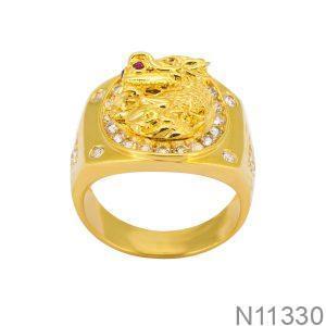 Nhẫn Nam Rồng Vàng Vàng 18K - N11330