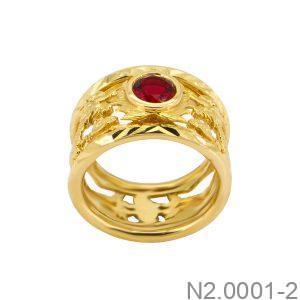Nhẫn Nam Rồng Vàng 18K Đính Đá CZ - N2.0001-2