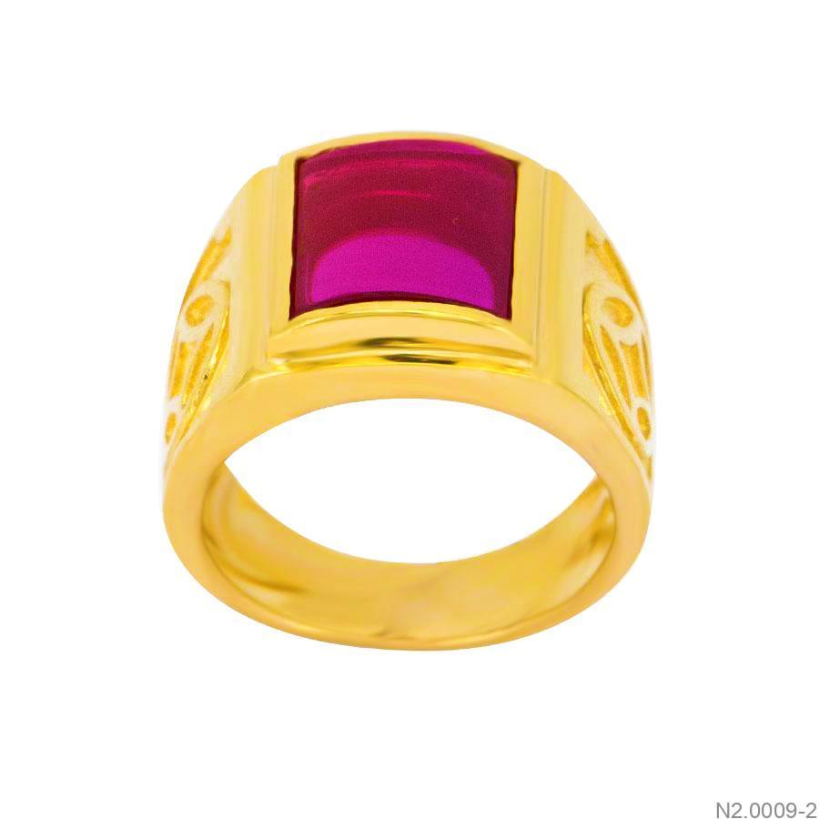 Nhẫn Nam Vàng Vàng 18k Đính Đá CZ - N2.0009-2