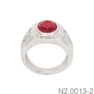 Nhẫn Nam Vàng Trắng 10K - N2.0013-2