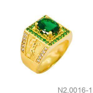 Nhẫn Nam Vàng Vàng 18k Đính Đá CZ - N2.0016-1