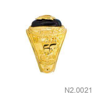 Nhẫn Nam Vàng Vàng 18K Đá Đen- N2.0021