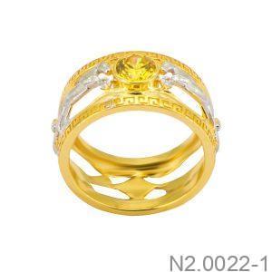 Nhẫn Nam Vàng Vàng 18K Đính Đá CZ - N2.0022-1