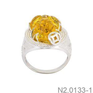 Nhẫn Nam Vàng Trắng 10K - N2.0133-1