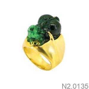 Nhẫn Kiêu Nam APJ Vàng 10k - N2.0135