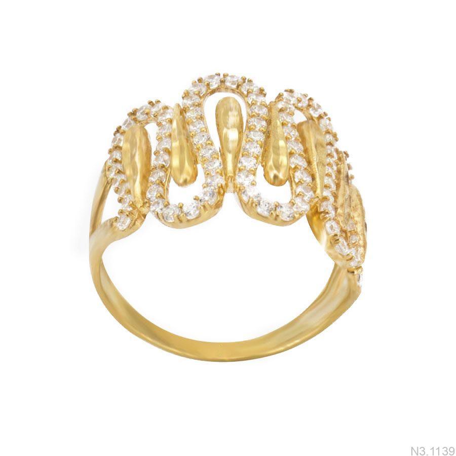 Nhẫn Nữ Vàng 18K Đính Đá CZ - N3.1139
