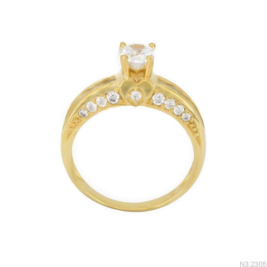 Nhẫn Nữ Vàng 18K Đính Đá CZ - N3.2305