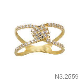 Nhẫn Nữ Vàng 18K Đính Đá CZ - N3.2559
