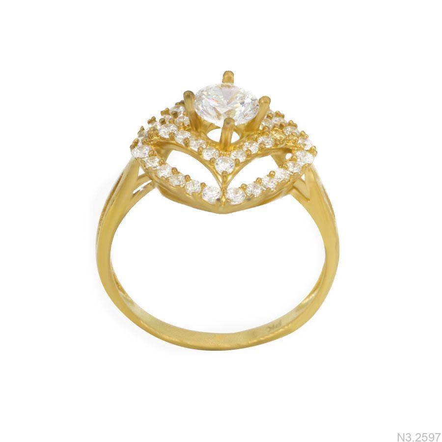 Nhẫn Nữ Vàng 18K Đính Đá CZ - N3.2597