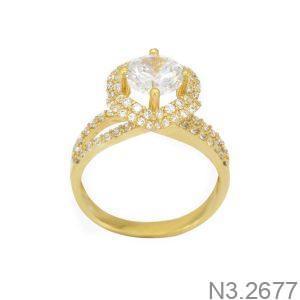 Nhẫn Nữ Vàng 18K Đính Đá CZ - N3.2677