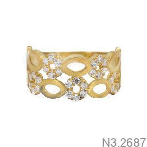 Nhẫn Nữ Vàng 18K Đính Đá CZ - N3.2687