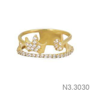 Nhẫn Nữ Vàng 18K Đính Đá CZ - N3.3030
