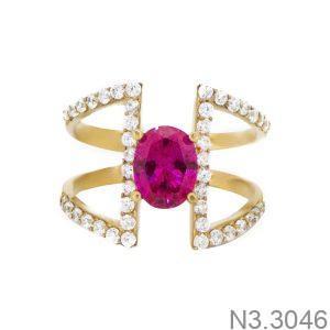 Nhẫn Nữ Vàng 18K Đính Đá CZ - N3.3046