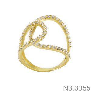 Nhẫn Nữ Vàng 18K Đính Đá CZ - N3.3055