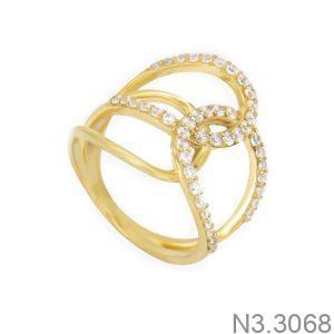 Nhẫn Nữ Vàng 18K Đính Đá CZ - N3.3068