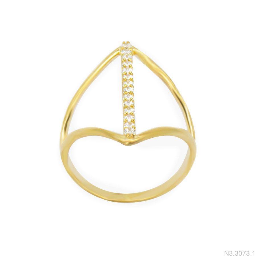 Nhẫn Nữ Vàng 18K Đính Đá CZ - N3.3073.1