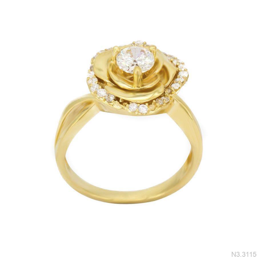 Nhẫn Nữ Vàng 18K Đính Đá CZ - N3.3115