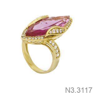Nhẫn Nữ Vàng 18K Đính Đá CZ - N3.3117