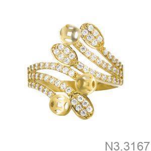 Nhẫn Nữ Vàng 18K Đính Đá CZ - N3.3167