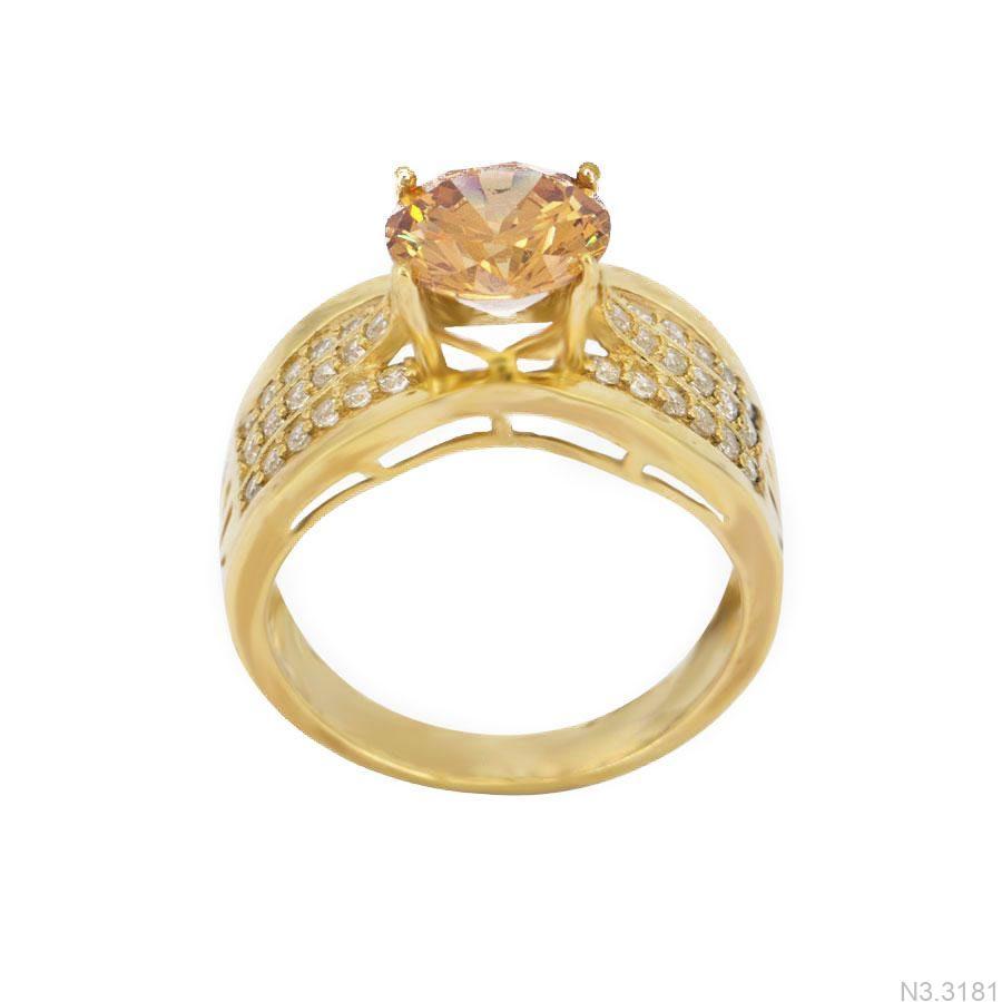 Nhẫn Nữ Vàng 18K Đính Đá CZ - N3.3181