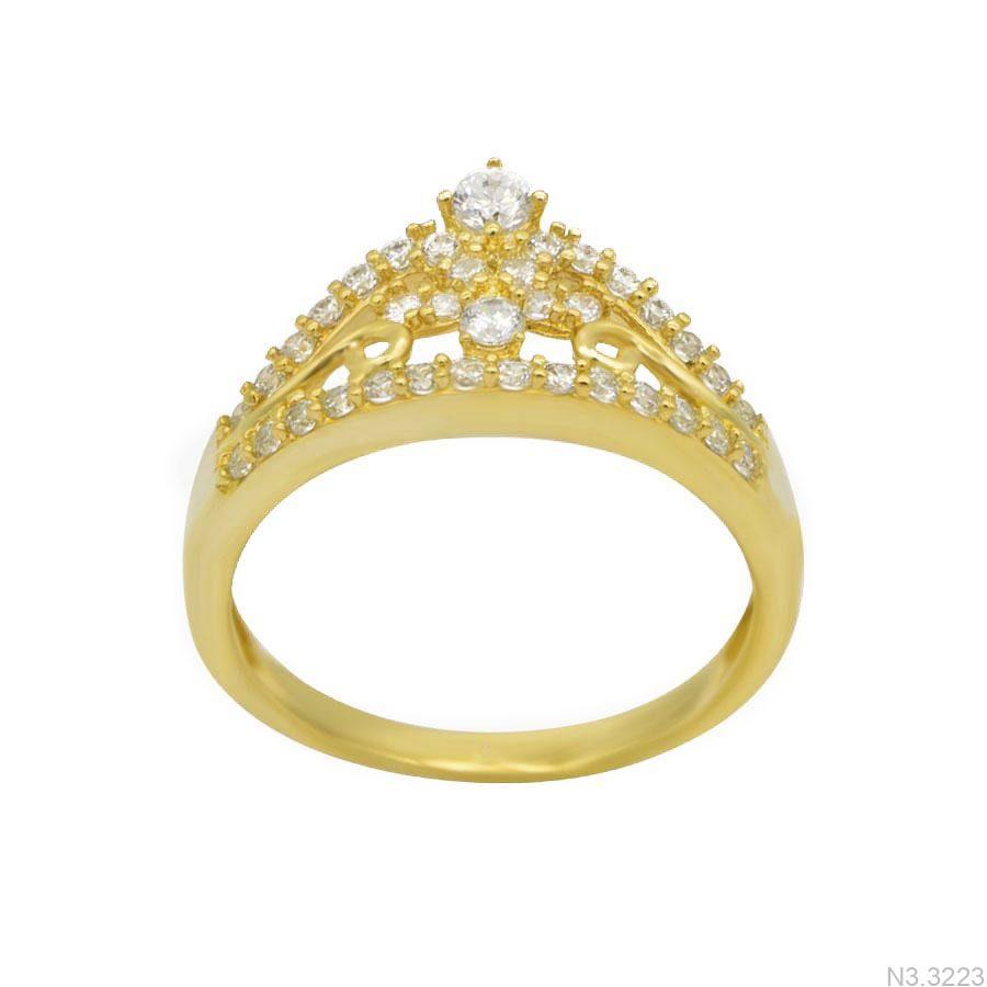 Nhẫn Nữ Vàng 18K Đính Đá CZ - N3.3223