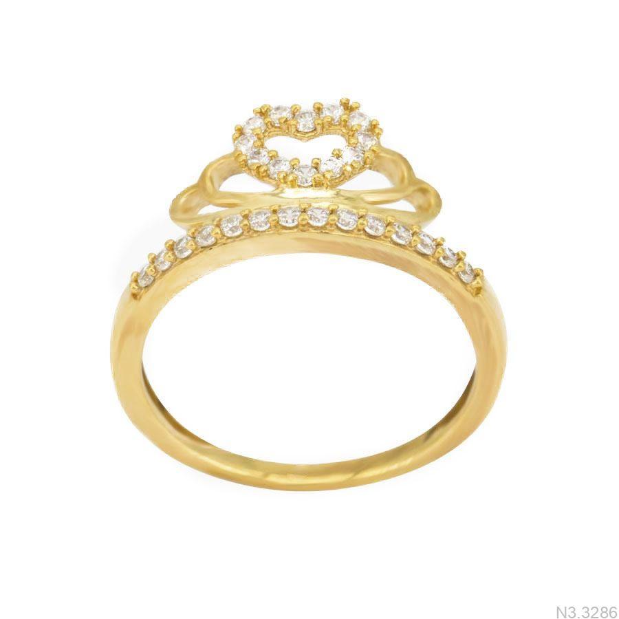 Nhẫn Nữ Vàng 18K Đính Đá CZ - N3.3286