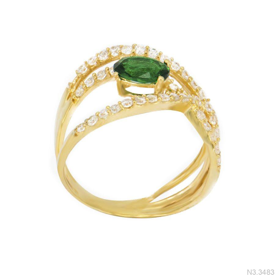 Nhẫn Nữ Vàng 18K Đính Đá CZ - N3.3483