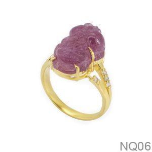 Nhẫn Nữ Tỳ Hưu Vàng 10K Đính Đá CZ - NQ06