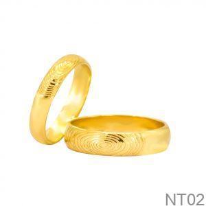 Nhẫn Cưới Vàng Vàng 18k - NT02