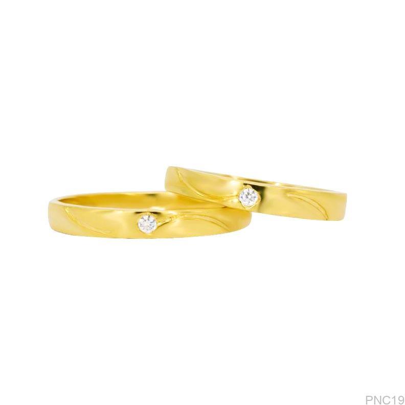 PNC19-1 Nhẫn cướivàng 18k đính cz