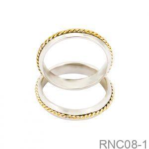 Nhẫn Cưới Hai Màu Vàng 10k - RNC08-1