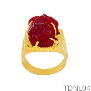Nhẫn Nam Vàng Vàng 18K - TDNL04