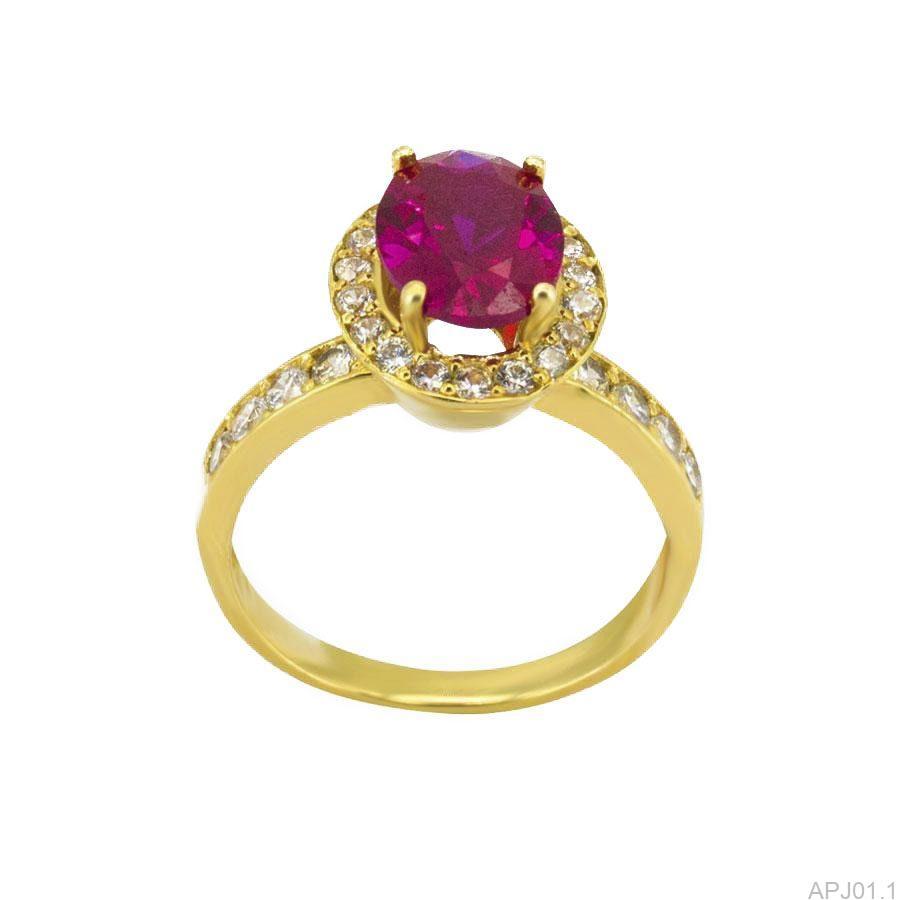 Nhẫn Nữ Vàng 18K Đính Đá CZ - APJ01.1