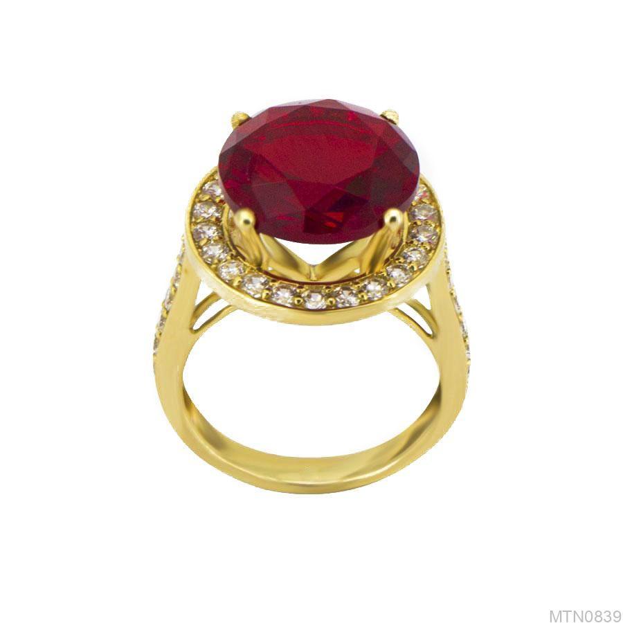 Nhẫn Nữ Vàng 18K Đính Đá CZ - MTN0839