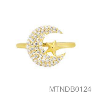 Nhẫn Nữ Vàng 18K Đính Đá CZ - MTNDB0124