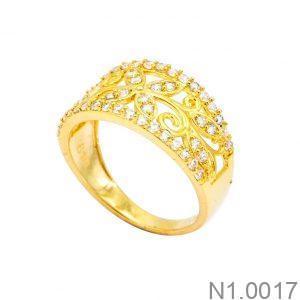 Nhẫn Nữ Vàng 18K Đính Đá CZ - N1.0017