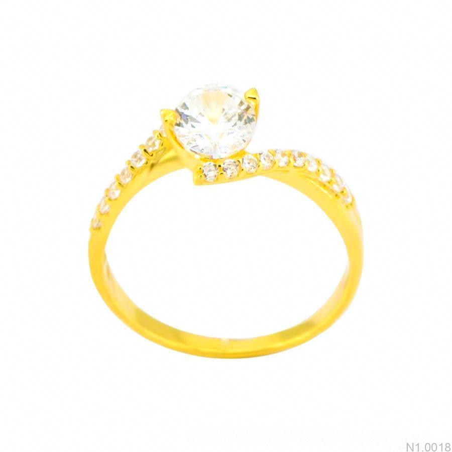 Nhẫn Nữ Vàng 18K Đính Đá CZ - N1.0018
