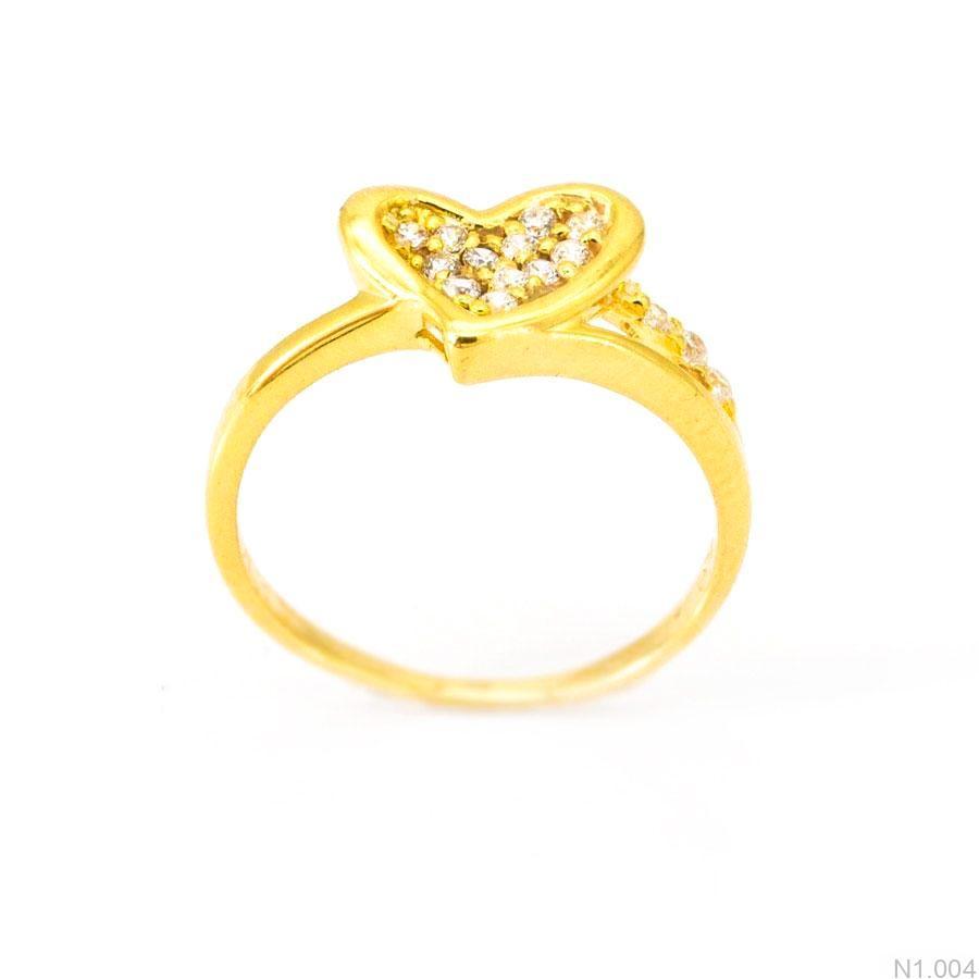 Nhẫn Nữ Vàng 18K Đính Đá CZ - N1.004
