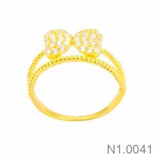 Nhẫn Nữ Vàng 18K Đính Đá CZ - N1.0041