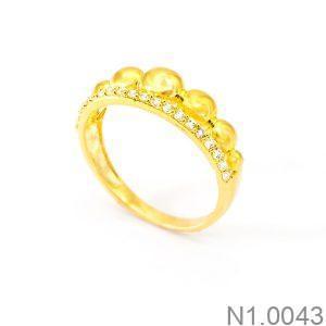 Nhẫn Nữ Vàng 18K Đính Đá CZ - N1.0043