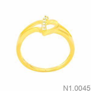 Nhẫn Nữ Vàng 18K Đính Đá CZ - N1.0045