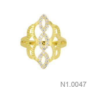 Nhẫn Nữ Vàng 18K Đính Đá CZ - N1.0047