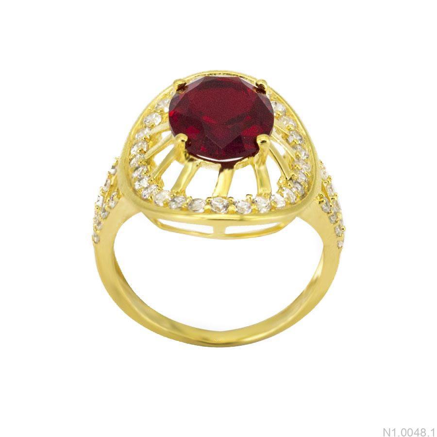 Nhẫn Nữ Vàng 18K Đính Đá CZ - N1.0048.1