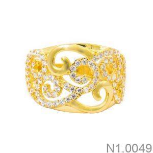 Nhẫn Nữ Vàng 18K Đính Đá CZ - N1.0049